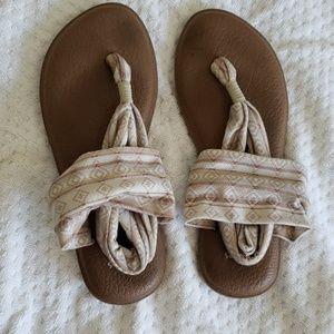 Sanuk tribal yoga mat flip flops